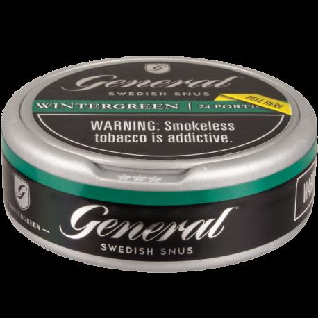 General White Wintergreen Portion Snus