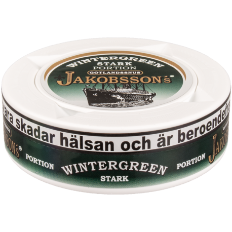 Jakobsson's Wintergreen Strong Portion Snus