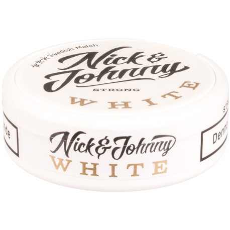 Nick & Johnny White Strong Portion Snus