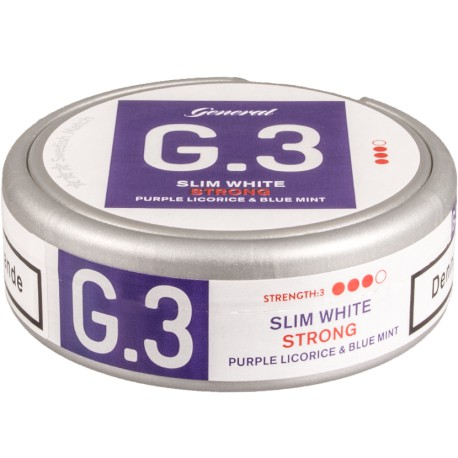 General G.3 Slim White Licorice/Mint Portion Snus