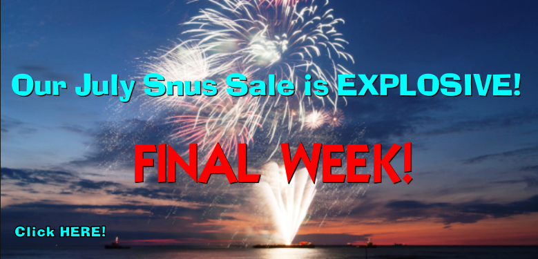 The SnusCentral.com July Snus Sale is EXPLOSIVE!