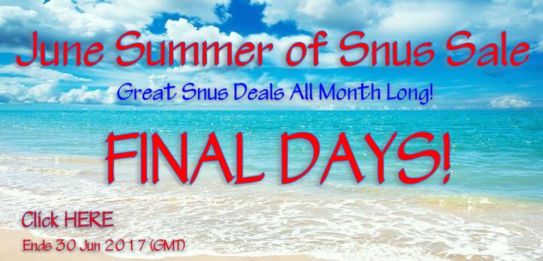 FINAL WEEK of our June Summer of Snus Sale!