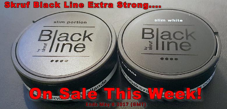 New from Skruf: Black Line Original and White Portion Snus