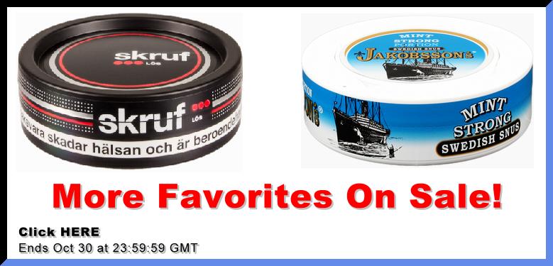 More Snus favorites on Sale!