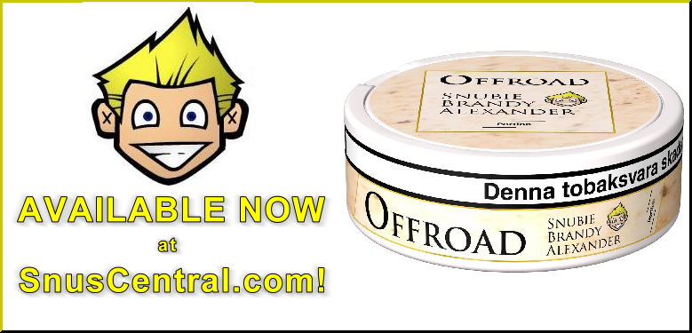 Offroad Snubie Brandy Alexander Portion Snus Available at SnusCentral.com NOW!