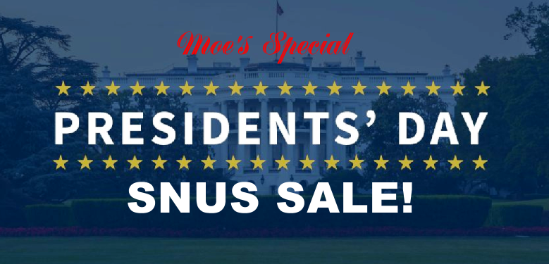 President's Day FACT: George Washington would not have had wooden teeth if he had used Swedish snus!