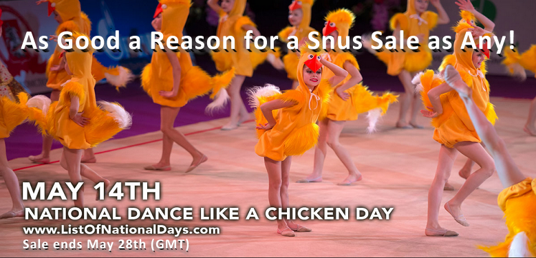 SnusCentral.com is celebrating National Dance Like Chicken Day with a Snus Sale!