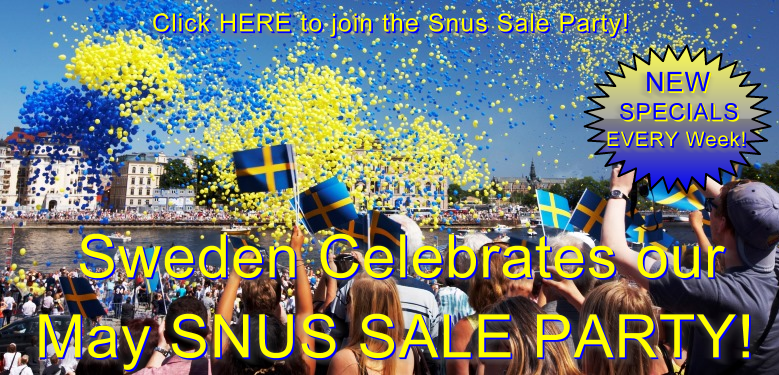 It's a Snus Sale Party at SnusCentral.com All Month Long!