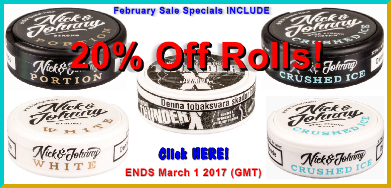 Get 20% Off these Snuses all Month Long!