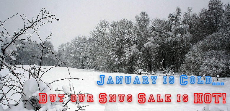 The SnusCentral.com January Snus Sale Will Keep You Warm! Don't Miss Out!