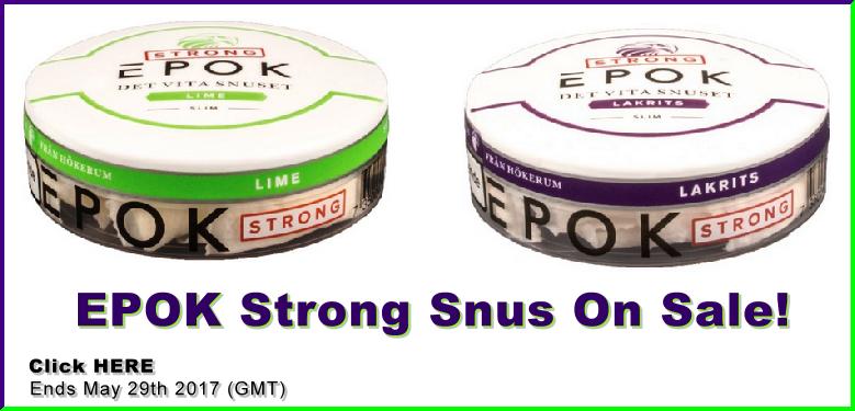 NEW Epok Strong Snus ON SALE!