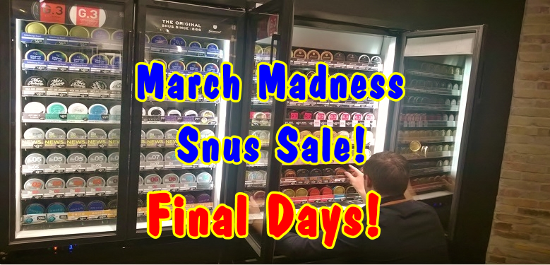 March Madness Snus Sale at the SnusCentral.com Snus Shop!