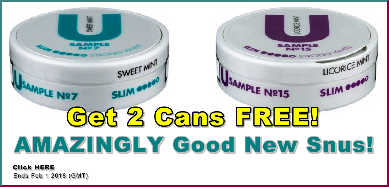 U Sample Extra Strong No.7 Mint and No.15 Licorice Mint ON SALE right now!