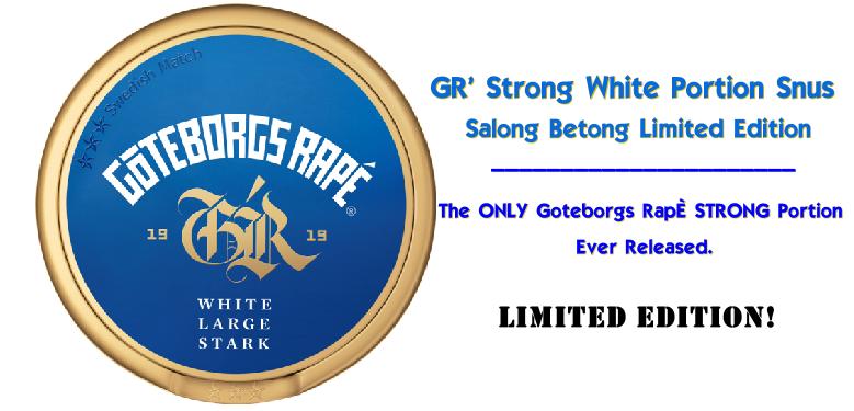 GR' Stark Salong Betong White Portion Limited Edition Snus!