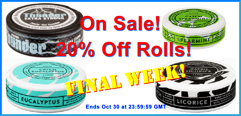 Final Week! Great Snus On Sale this Month!
