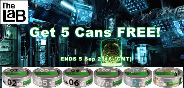 ALL The LAB Snus Sale - 5 Cans FREE!