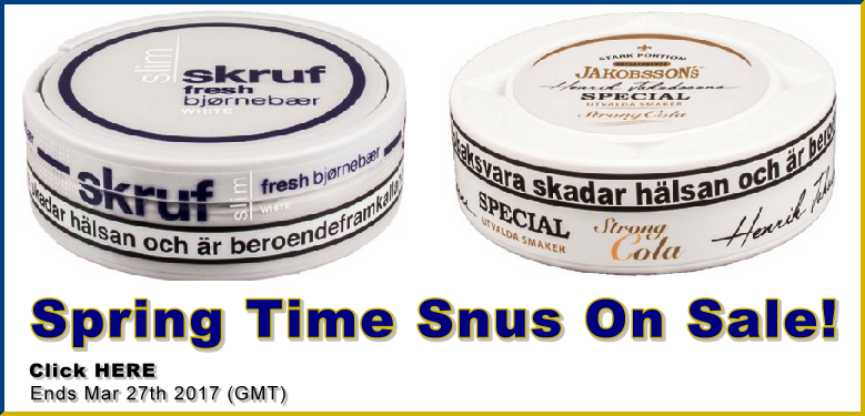 Great Snus for Spring On Sale Too!
