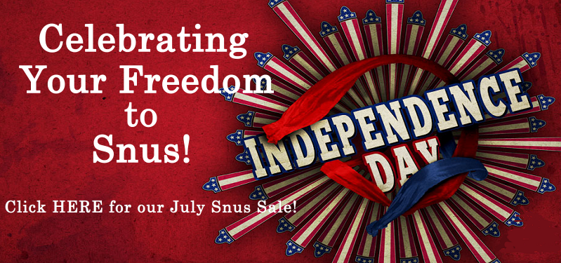 Celebrating our July Snus Independence with a Sale!