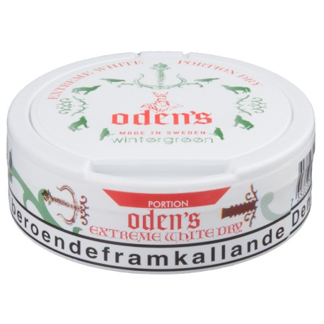 Oden's Pure Wintergreen Extreme White Dry Portion Snus