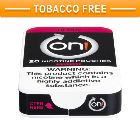 on! Berry 8 Nicotine Pouches
