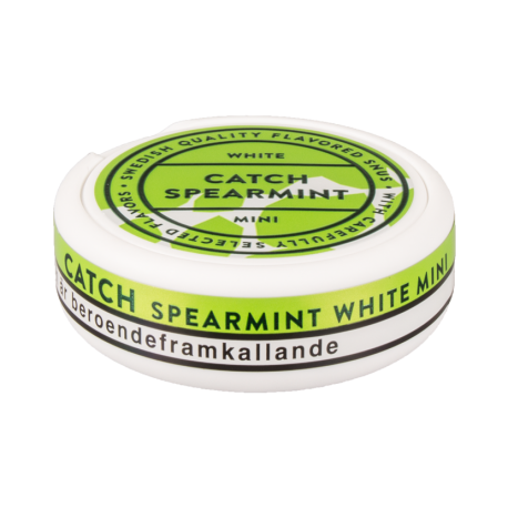 Catch Spearmint Mini White Portion Snus