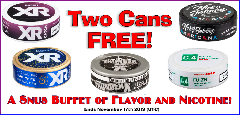 SnusCentral.com has a buffet of Snus on Sale this Week just for YOU!