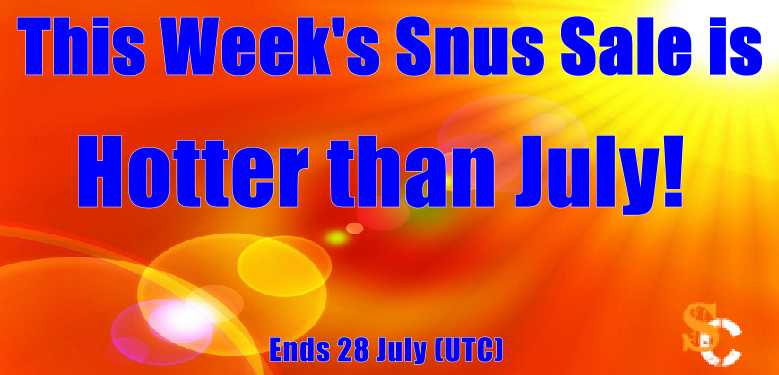 Cool off with this Week's SnusCentral.com Snus Sale!