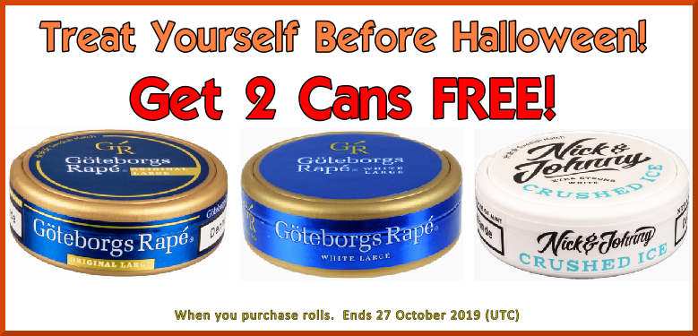 FREE Bonus Snus Cans Week Continues with these Swedish Match Snus Favorites!