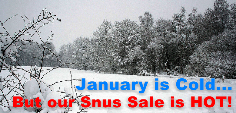 January is cold, especially in Sweden but our January SNUS SALE is HOT!
