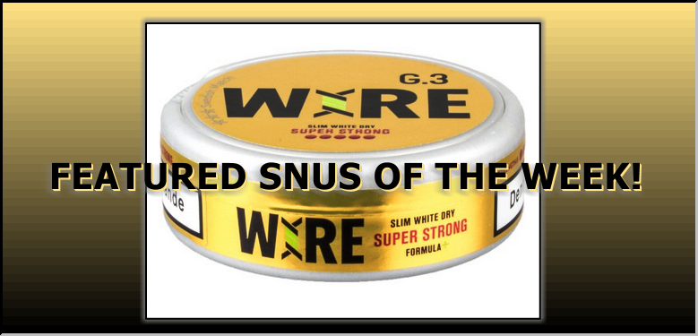 This Week's Featured Snus: General G.3 Wire Super Strong Slim White Dry Snus!