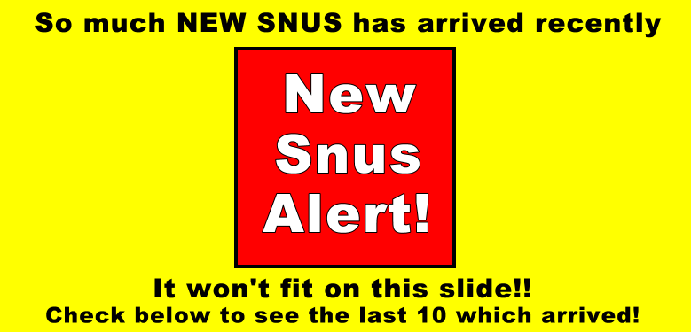 New Snus Alert and a Snus Sale too!