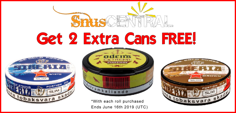 Get 2 Cans FREE on these GNT Snus Favorites!