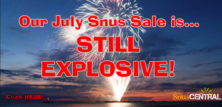 The bombs are still falling at the SnusCentral.com July Snus Sale! It's like Prime Day with snus!