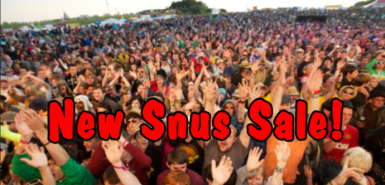 Join the crowd: It's a NEW SNUS SALE at the fabled SnusCentral.com Snus Shop!