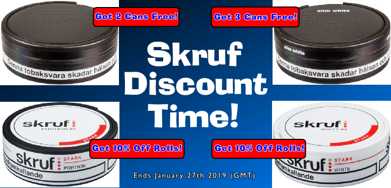 It's a GREAT TIME to Buy Skruf Snus!