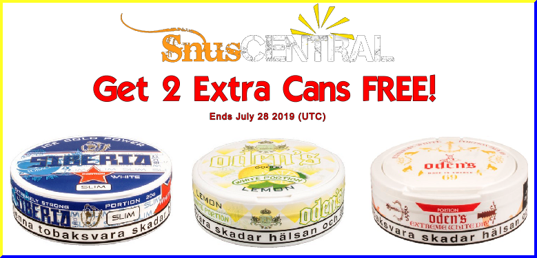 July is for Snus Lovers!
