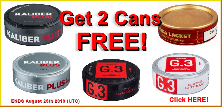 FREE Bonus Cans of these popular snus favorites from Swedish Match this week!
