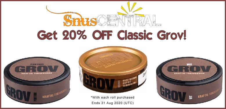 Grov Classic ON SALE for August - Get 2 cans FREE! WooHoo!