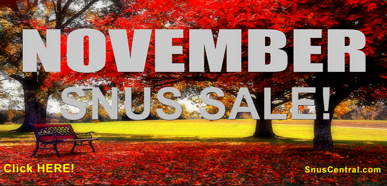 Is it November already? Then let's have a November Snus Sale!
