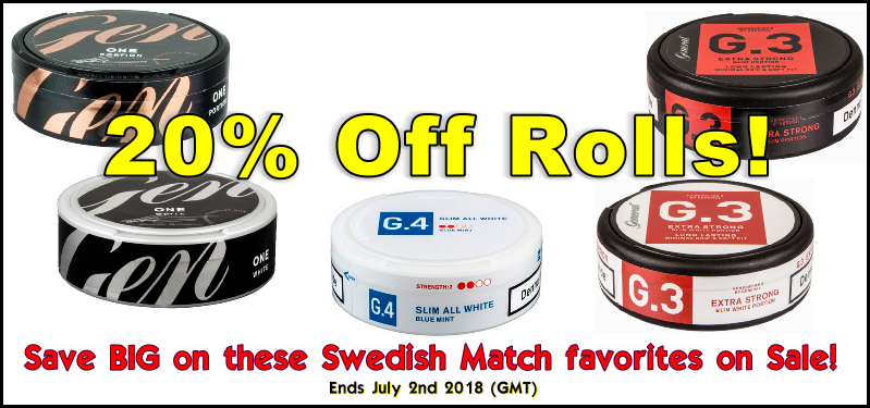 Save 20% on these snus specials at the SnusCentral.com Snus Shop!