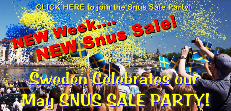 The SnusCentral Spring Snus Sale spreads across the nation! Jump right in!