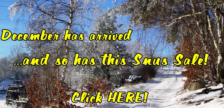 Winter has arrived at SnusCentral.com and so has this Snus Sale!
