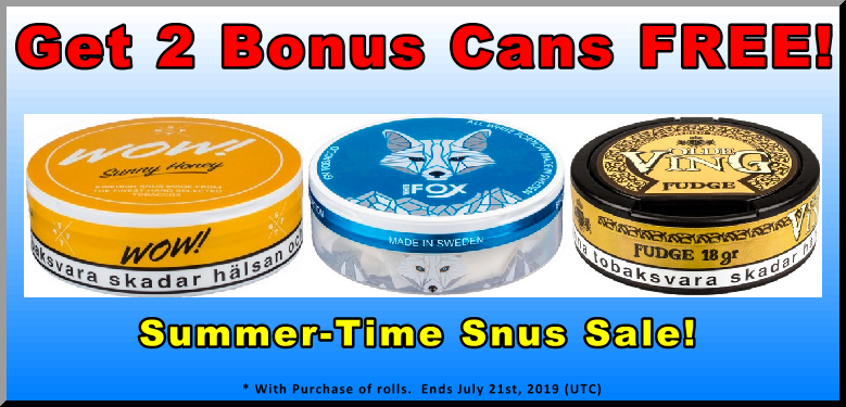 You'll Love getting 2 Cans FREE of these GN Tobacco Snus Favorites!