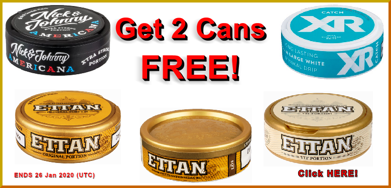 January Swedish Match Snus on Sale to close out the month!