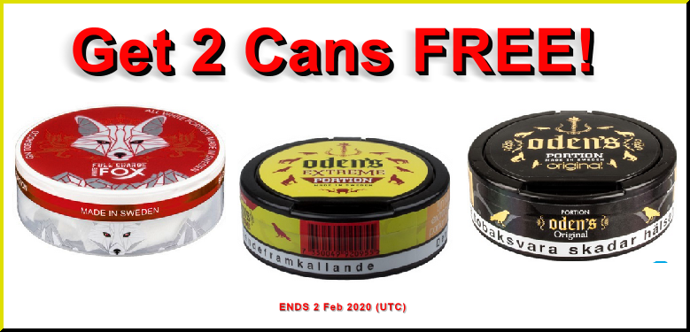 Load up on these Bonus Cans of GN Tobacco Snuses THIS WEEK!