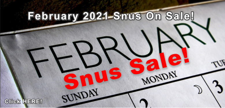 This Week's Snus Sale is BIG! See for yourself!