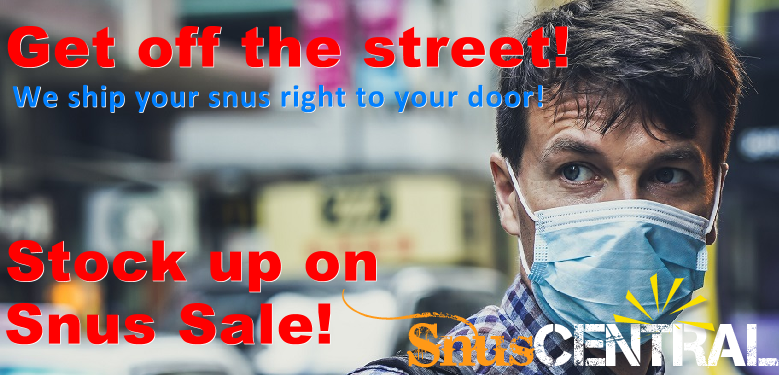 Stay safe indoors! We ship your snus right to you!