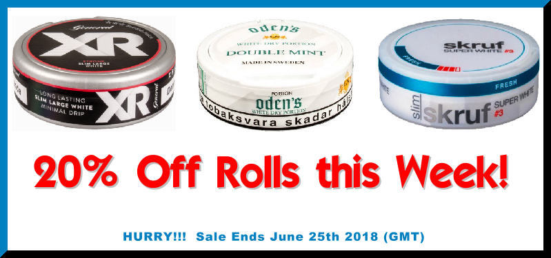 Get Dad (or yourself) some Father's Day Snus AND Save 20%!