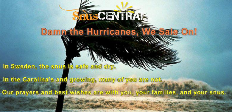 Damn the Hurricane; We Sale On! Be Safe!