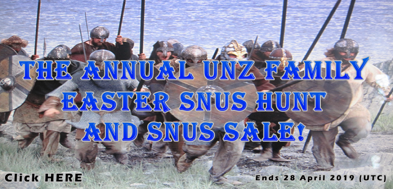 It's the Unz Family Annual Easter Snus Hunt and Snus Sale!